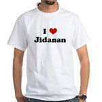 I Love Jidanan White T-Shirt