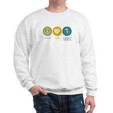 Peace Love Hispanic-American Studies Sweatshirt