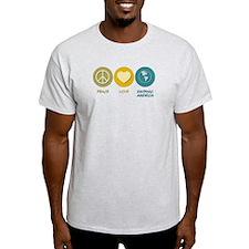 Peace Love Hispanic-American Studies T-Shirt