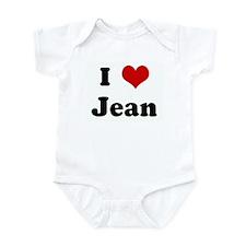 I Love Jean Infant Bodysuit