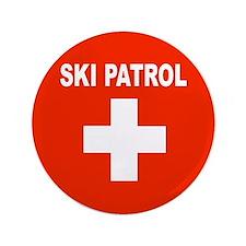 """Ski Patrol 3.5"""" Button"""