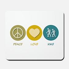 Peace Love Hike Mousepad