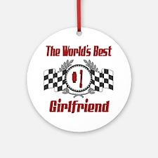 Racing Girlfriend Ornament (Round)