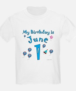June 1st Birthday T-Shirt
