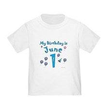 June 1st Birthday T