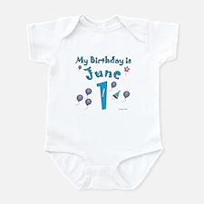 June 1st Birthday Infant Bodysuit