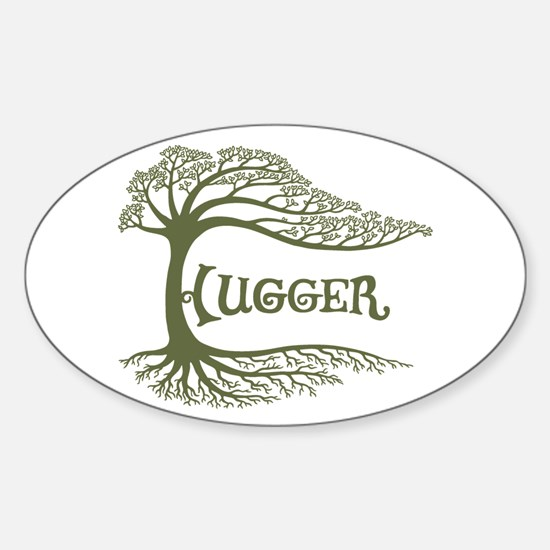 Hugger II Oval Bumper Stickers