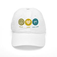 Peace Love High Jump Baseball Cap