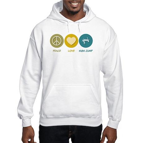 Peace Love High Jump Hooded Sweatshirt