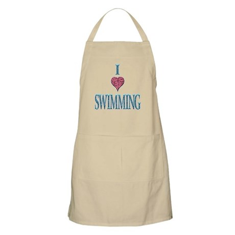 I Love Swimming BBQ Apron