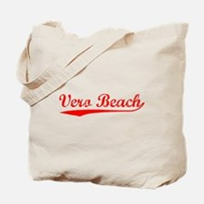 Vintage Vero Beach (Red) Tote Bag