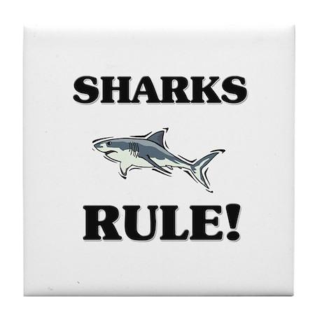 Sharks Rule! Tile Coaster