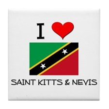 I Love Saint Kitts & Nevis Tile Coaster