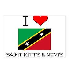 I Love Saint Kitts & Nevis Postcards (Package of 8