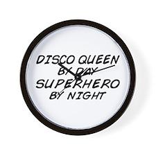 Disco Queen Superhero by Night Wall Clock