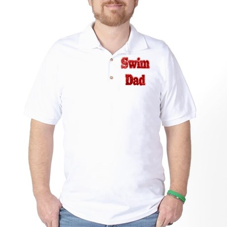 Swim Dad II Red Golf Shirt