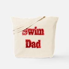 Swim Dad II Red Tote Bag