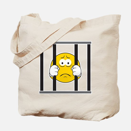 Prisoner Smiley Face Tote Bag