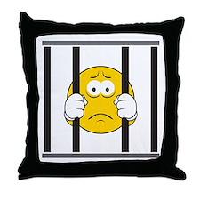 Prisoner Smiley Face Throw Pillow