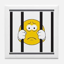 Prisoner Smiley Face Tile Coaster