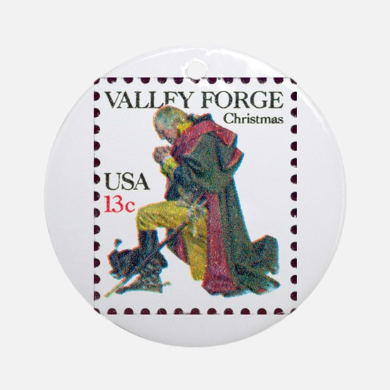 Religious Stamp Ornament (Round)