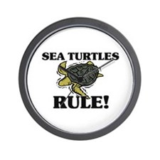 Sea Turtles Rule! Wall Clock