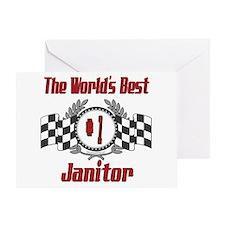 Racing Janitor Greeting Card