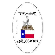Texas Oilman Oval Bumper Stickers
