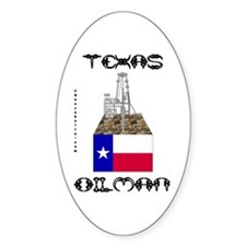 Texas Oilman Oval Decal