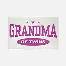 Grandma of Twins Rectangle Magnet