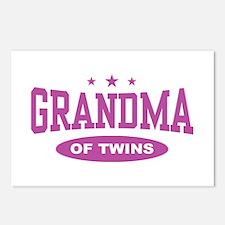 Grandma of Twins Postcards (Package of 8)