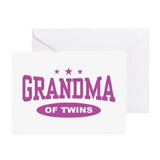 Grandma of Twins Greeting Cards (Pk of 10)