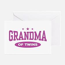 Grandma of Twins Greeting Cards (Pk of 10)