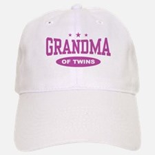 Grandma of Twins Baseball Baseball Cap