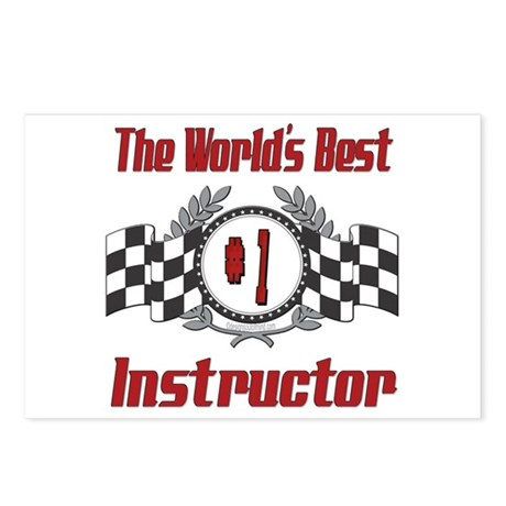Racing Instructor Postcards (Package of 8)