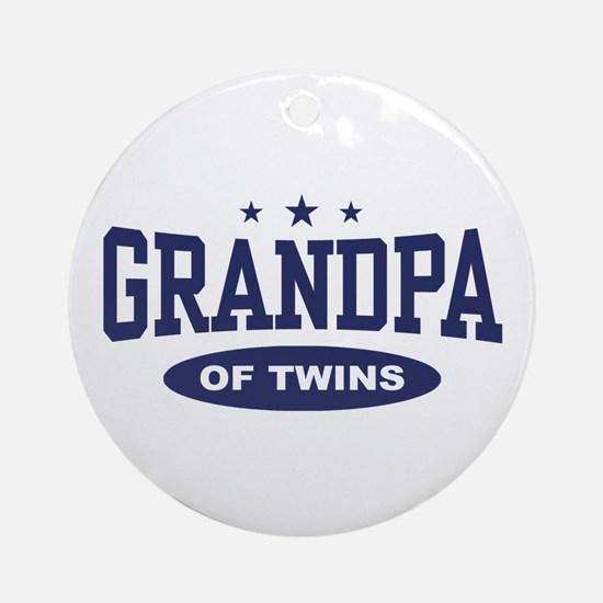 Grandpa of Twins Ornament (Round)