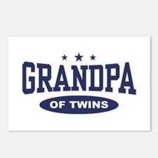Grandpa of Twins Postcards (Package of 8)