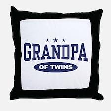 Grandpa of Twins Throw Pillow