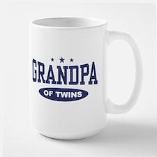Grandpa of Twins Large Mug