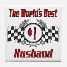 Racing Husband Tile Coaster