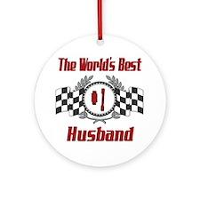Racing Husband Ornament (Round)