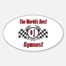 Racing Gymnast Oval Decal