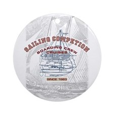 Sailing competition Ornament (Round)