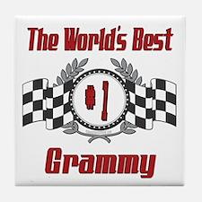 Racing Grammy Tile Coaster
