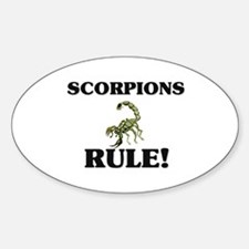 Scorpions Rule! Oval Decal
