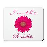 Pink Daisy Bride Mousepad