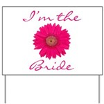 Pink Daisy Bride Yard Sign