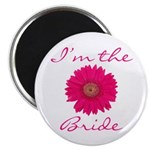 Pink Daisy Bride Magnet