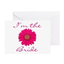 Pink Daisy Bride Greeting Cards (Pk of 10)