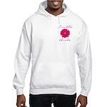 Pink Daisy Bride Hooded Sweatshirt
